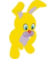young rabbit sitting in front of white background vector image