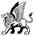 winged lion vector image