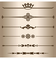 Decorative lines vector image