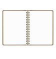 Blank Realistic Open Notebook Isolated On White vector image