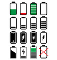 Battery life icons set vector image