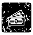 Bill icon grunge style vector image