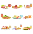 Breakfast Meal Different Sets vector image