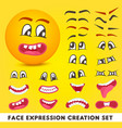 face expression creation set vector image