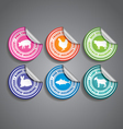 Food Stickers Rounded vector image