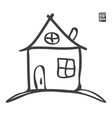 Hand drawn sketch of house vector image