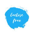 lactose free natural fresh milk splash logo vector image