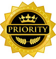 priority gold icon vector image