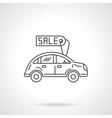 Sale automobile icon flat line design icon vector image