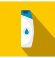 Shampoo flat icon with shadow vector image