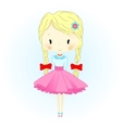 Doll Beautiful Golden Hair vector image