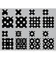 Polka dot patterns vector image