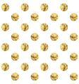 Golden polka dot vector image