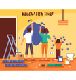 Renovation Time Flat vector image