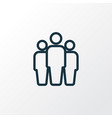 group outline symbol premium quality isolated vector image