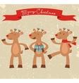 Happy deers Christmas card vector image
