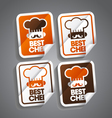 Best Chef Sticker vector image