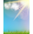 Sun on a blue sky vector image