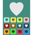 human heart icons or symbols for love vector image