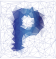 letter P low poly vector image vector image