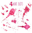 Wine splash and blots concept vector image