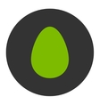 Egg flat eco green and gray colors round button vector image