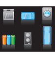 kitchen equipment icons vector image