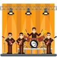 music band on stage performance show vector image