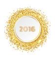 Golden glitter banner vector image
