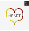 Minimal line design logo heart icon vector image