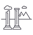 monuments of ruins line icon sign vector image