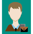 Profession people businessman Face male uniform vector image