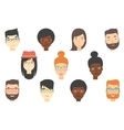 Set of human faces expressing positive emotions vector image