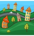 Suburbs and houses vector image