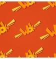 Wok logo seamless pattern vector image
