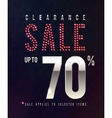 Sale Ruby Poster 70 percent off sale vector image