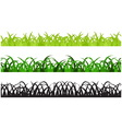 Set of Three Grass Border Pieces vector image vector image