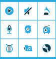 multimedia colored icons set collection of folder vector image