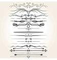 Decorative Rule Lines Design Elements vector image
