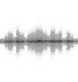 halftone sound wave black and white pattern vector image