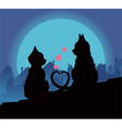 lovers cats vector image