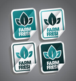 Farm Fresh Sticker vector image vector image