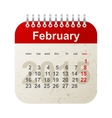 calendar 2015 - february vector image vector image