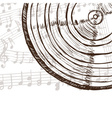 Vinyl record and music notes vector image vector image