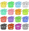 pans smiles vector image vector image