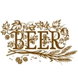 Ornate beer lable vector image