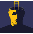 Ladder and head vector image