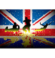 British flag sports figures vector image
