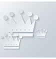 modern crown light background vector image