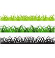 Set of Three Grass Border Pieces vector image